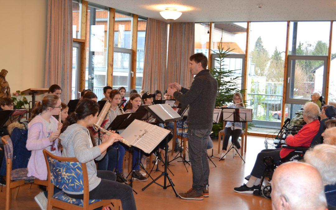 Kleines Konzert der Bläserklasse der Anne-Frank-Realschule